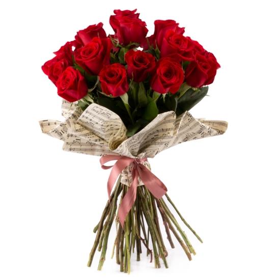 Buchet de 19 Trandafiri roșii