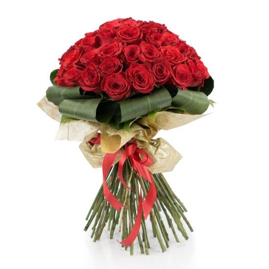 Buchet de 45 Trandafiri roșii