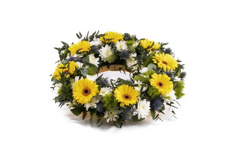 Coroana funerara rotunda Gerbera